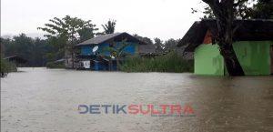 Banjir yang merendam beberapa wilayah di KOnawe Utara