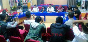 Konferensi Pers KPU Sultra terkait PSU