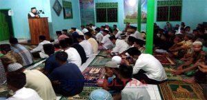 Plt Walikota Sulkarnain saat mengisi dakwah islamiah di masjid baburrahman Labibia