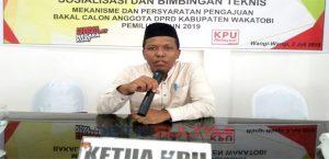 Ketua KPU Kabupaten Wakatobi Abdul Rajab