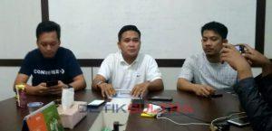 Suasana konferensi pers Tim Rusda Mahmud dan Syafei Kahar