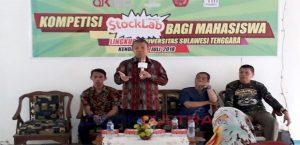 Rektor Unsultra, Prof. Dr. Andi Bahrun, M.Sc. Agic saat membawakan sambutan.