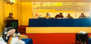 Rapat Pleno KPU SUltra Penetapan Calon ANggota DPD RI