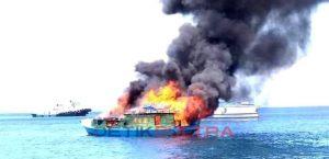 KM Samudara Pengangkut BBM Terbakar di tengah laut
