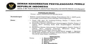 Surat Panggilan DKPP
