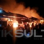 Kebakaran di Pasar sentral wakatobi