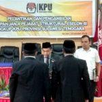 Pelantikan Sekretaris KPU