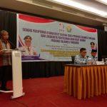 Ketua DRD Sultra, Andi Bahrun, dalam sidang paripurna Dewan Riset Daerah (DRD) Sultra