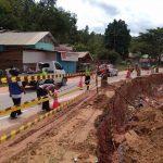 Kondisi terkini jalan transulawesi yang terletak di Kelurahan Rawua, Kecamatan Sampara Kabupaten Konawe