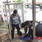 Detik-detik penangkapan tersangka