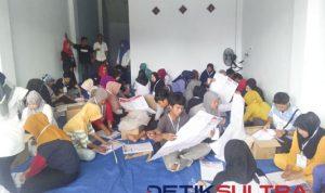 Pelipatan surat suara di KPU Kolut